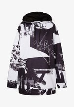 OVERSIZED HOODIE DRESS - Freizeitkleid - black/white