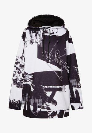 OVERSIZED HOODIE DRESS - Denní šaty - black/white
