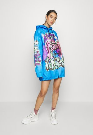 DRAWCORD HEM HOODIE DRESS - Denní šaty - colourful