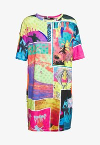 Jaded London - OVERSIZED T SHIRT DRESS - Jersey dress - surf - 3