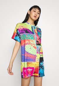 Jaded London - OVERSIZED T SHIRT DRESS - Jersey dress - surf - 0