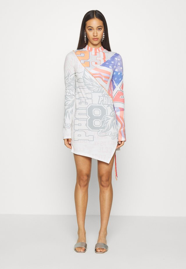 CUT SEW LONG SLEEVE DRESS - Vestido ligero - multi coloured