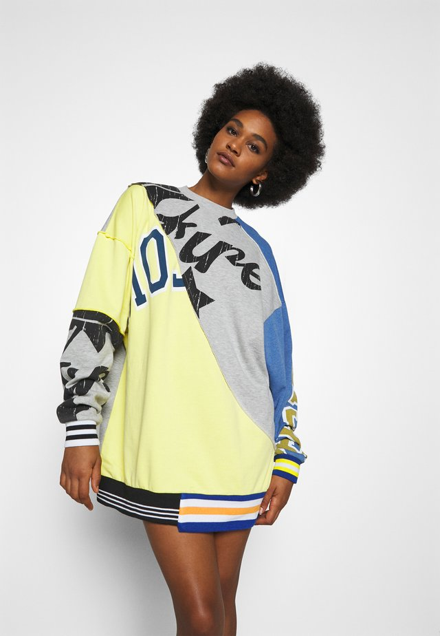 CUT & SEW OVERSIZED DRESS VARSITY - Day dress - multi