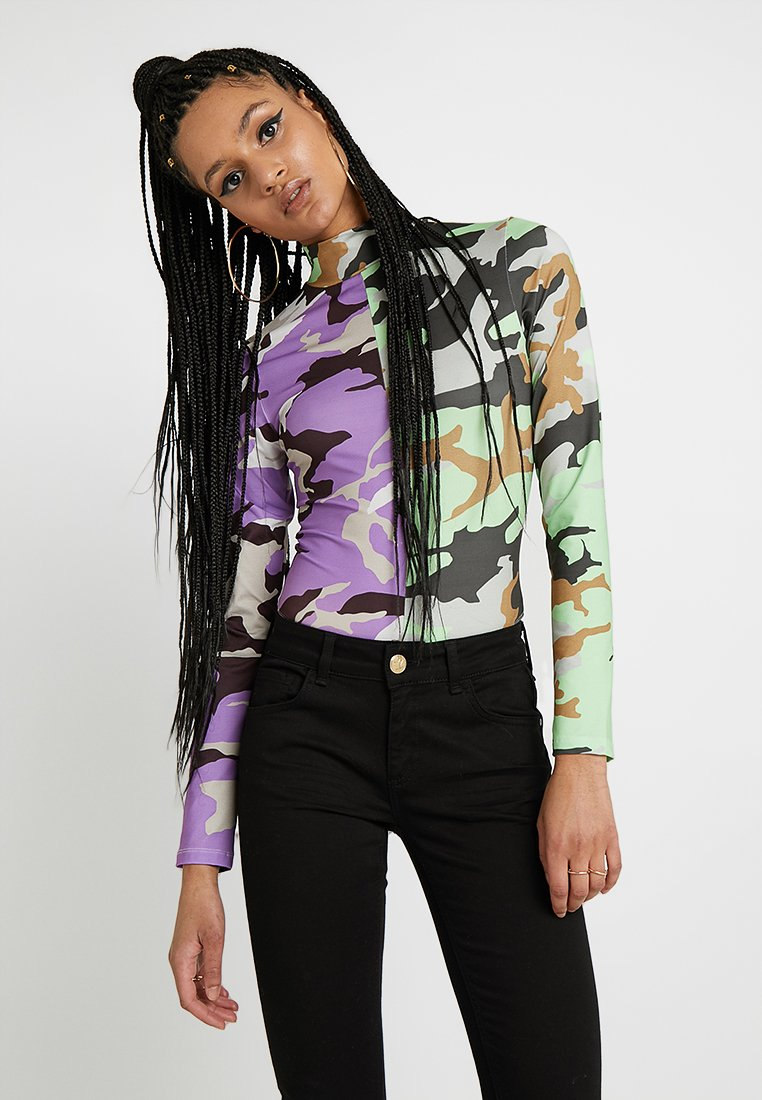 Jaded London - EXCLUSIVE MICROFIBRE CAMO  - Body - purple/ lime