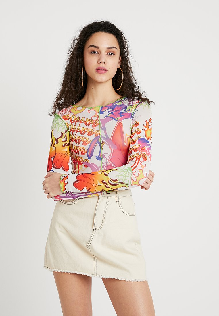 Jaded London - GRAFFITTI PRINT - Bluzka z długim rękawem - multi-coloured