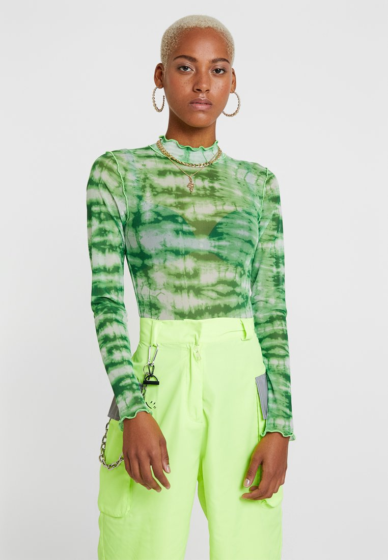 Jaded London - EXCLUSIVE LONG SLEEVE BODY - Langarmshirt - lime
