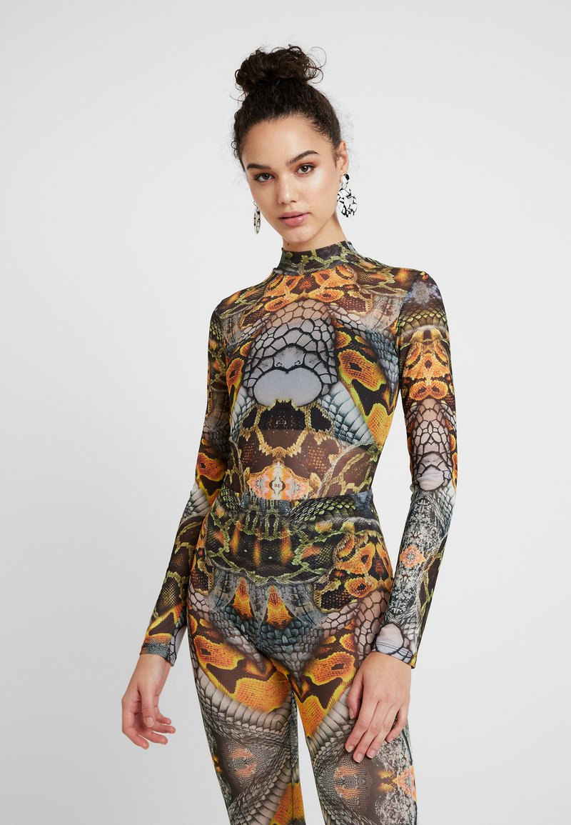 Jaded London - HIGH NECK LONG SLEEVE BODYSUIT - Long sleeved top - multi coloured