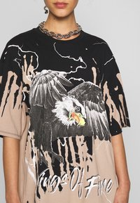 Jaded London - OVERSIZED ROCK TEE - Print T-shirt - eagle print - 5
