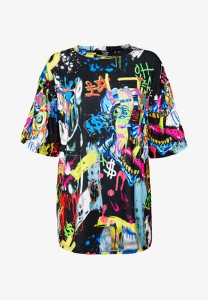 OVERSIZED - T-shirts med print - multi-coloured