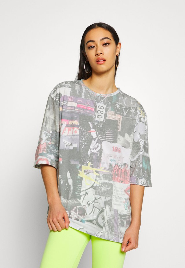 OVERSIZED WITH LONGER SLEEVE - T-Shirt print - multicolor