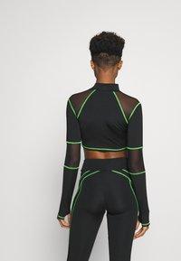 Jaded London - SPORT HIGH NECK LONG SLEEVE TOP - Long sleeved top - green/black - 2