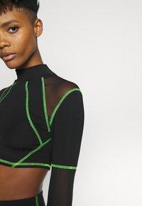 Jaded London - SPORT HIGH NECK LONG SLEEVE TOP - Top sdlouhým rukávem - green/black - 7