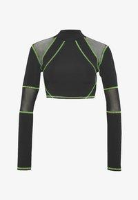 Jaded London - SPORT HIGH NECK LONG SLEEVE TOP - Long sleeved top - green/black - 6