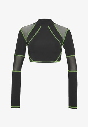 SPORT HIGH NECK LONG SLEEVE TOP - Top s dlouhým rukávem - green/black