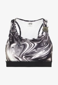 Jaded London - PRINTED SPORTS BRA WITH BUCKLE - Bustier - chrome print - 5