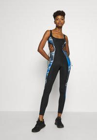 Jaded London - SQUARE NECK PRINTED CATSUIT WITH CUT OUT - Jumpsuit - multi coloured - 0