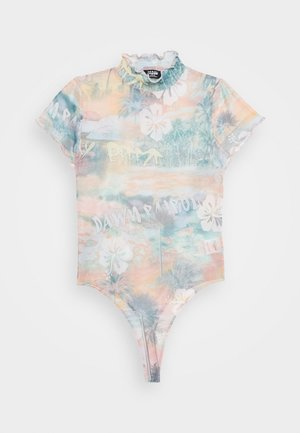 HIGH NECK CAP SLEEVE BODY - T-shirts print - washed hawaiian