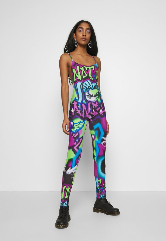 SQUARE NECK CATSUIT - Overall / Jumpsuit /Buksedragter - multi-coloured