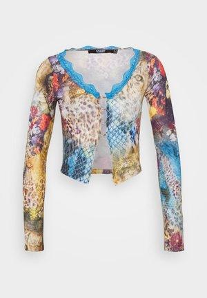 WITH TRIM LEOPARD ROSES MASH UP PRINT - Print T-shirt - multicolor