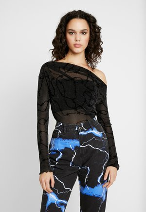 OFF THE SHOULDER - Bluse - glitter barbed wire