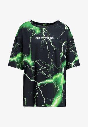 OVERSIZED - Camiseta estampada - oriental lightening