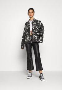 Jaded London - SLOUCHY JACKET WITH STUDDING - Denim jacket - black/white - 1