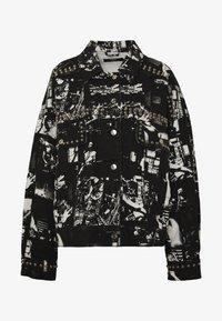 Jaded London - SLOUCHY JACKET WITH STUDDING - Denim jacket - black/white - 4