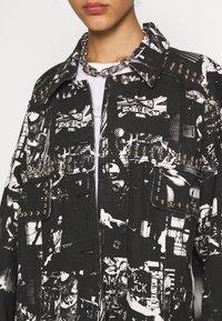 Jaded London - SLOUCHY JACKET WITH STUDDING - Denim jacket - black/white - 5