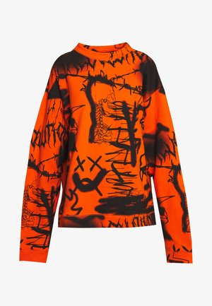 GRAFFITI PRINT  - Mikina - orange/black