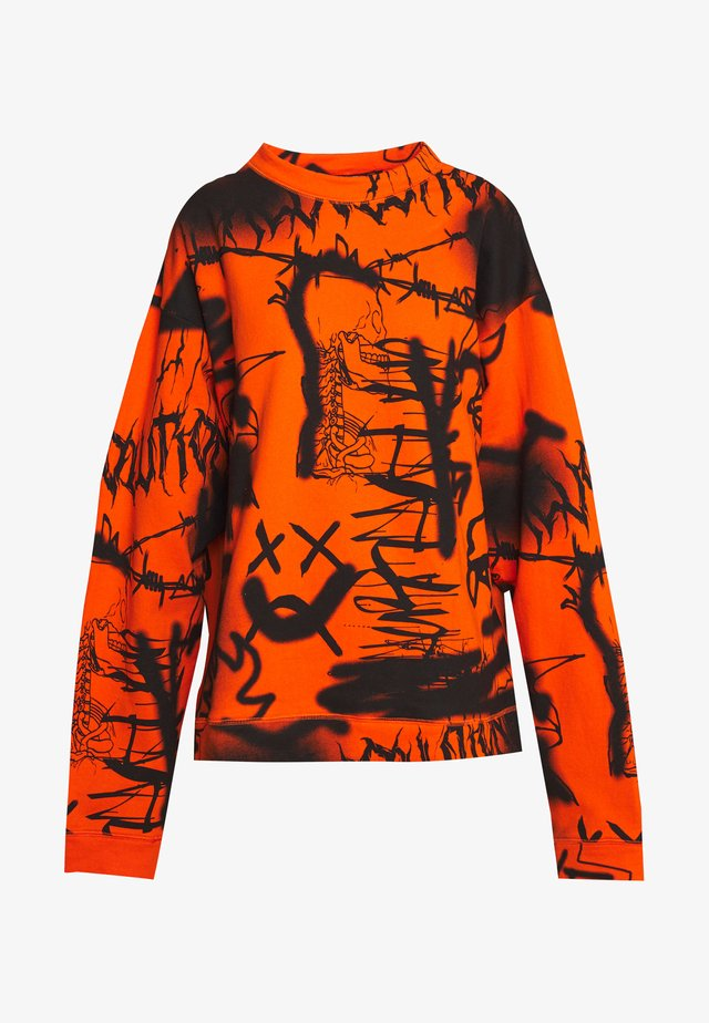 GRAFFITI PRINT  - Sweatshirts - orange/black