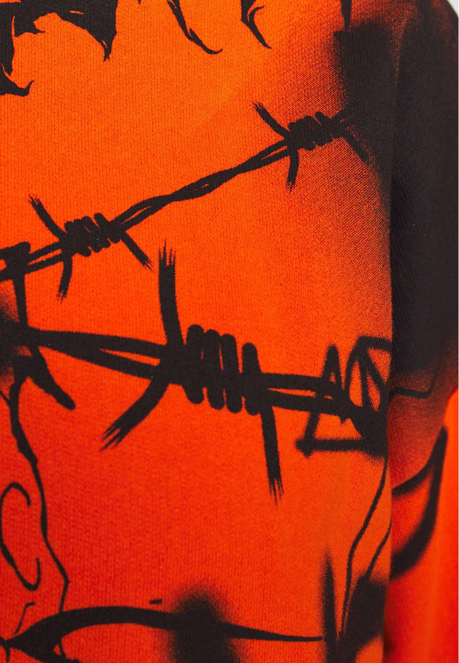 Jaded London GRAFFITI PRINT  - Felpa - orange/black
