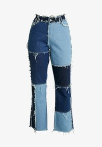 Jaded London - PATCHWORK  - Džíny Straight Fit - blue denim - 3