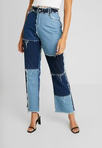 Jaded London - PATCHWORK  - Džíny Straight Fit - blue denim - 0