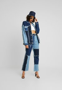 Jaded London - PATCHWORK  - Džíny Straight Fit - blue denim - 1