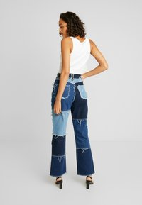Jaded London - PATCHWORK  - Džíny Straight Fit - blue denim - 2
