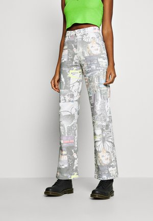 PRINTED SLOUCHY - Relaxed fit jeans - multi-coloured