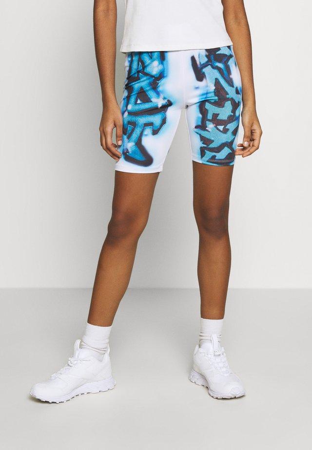 NOT YOUR GRAFFITI PRINT CYCLING - Shorts - white