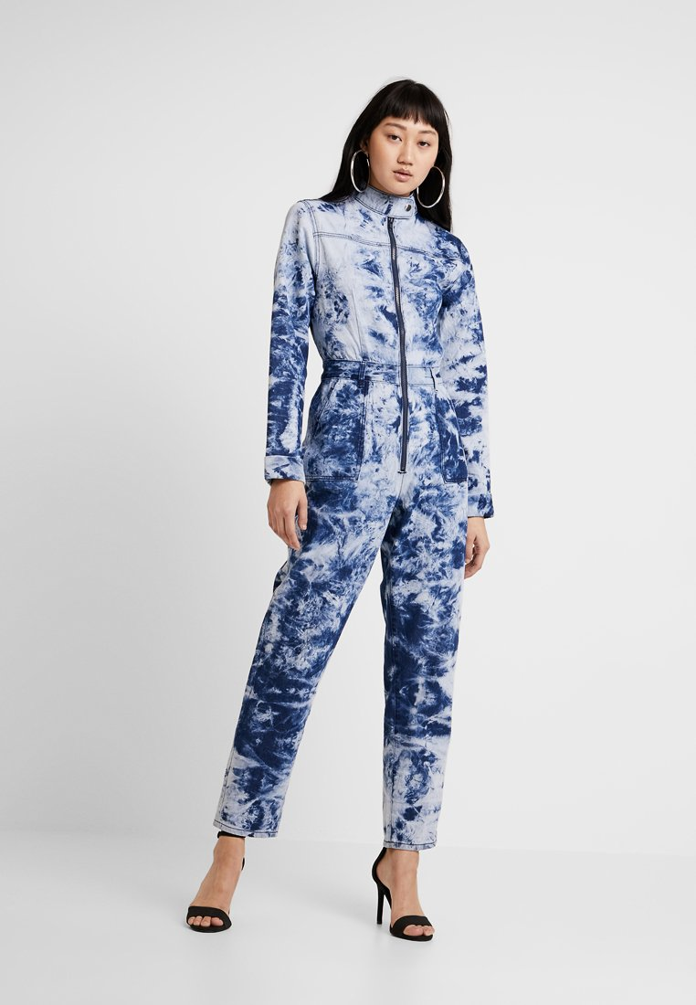 Jaded London - TIE DYE BOILER - Haalari - blue