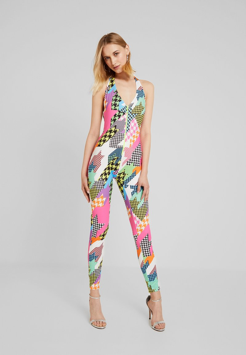 Jaded London - PLUNGE NECK WITH ZIP - Jumpsuit - multi-coloured