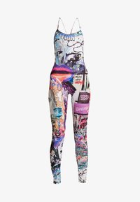 Jaded London - SQUARE NECK CATSUIT - Jumpsuit - lips collage print - 3