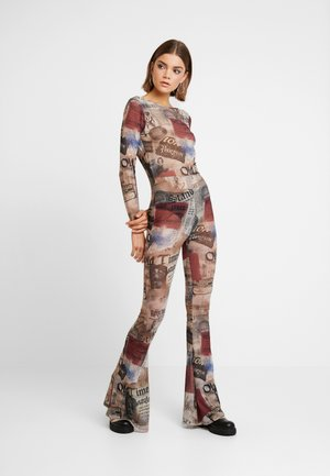 SCOOP BACK FLARED LEG - Jumpsuit - multicoloured