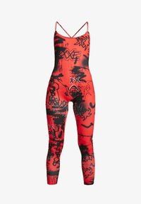 Jaded London - SQUARE NECK PRINTED GRAFFITI PRINT - Jumpsuit - red/black - 4