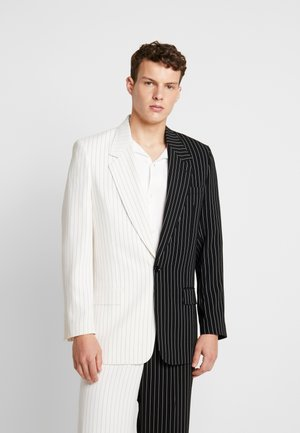 SPLICED PINSTRIPE  - Chaqueta de traje - black/white