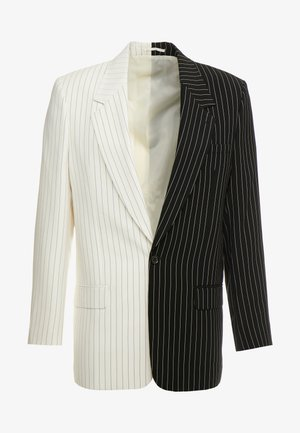 SPLICED PINSTRIPE  - Veste de costume - black/white