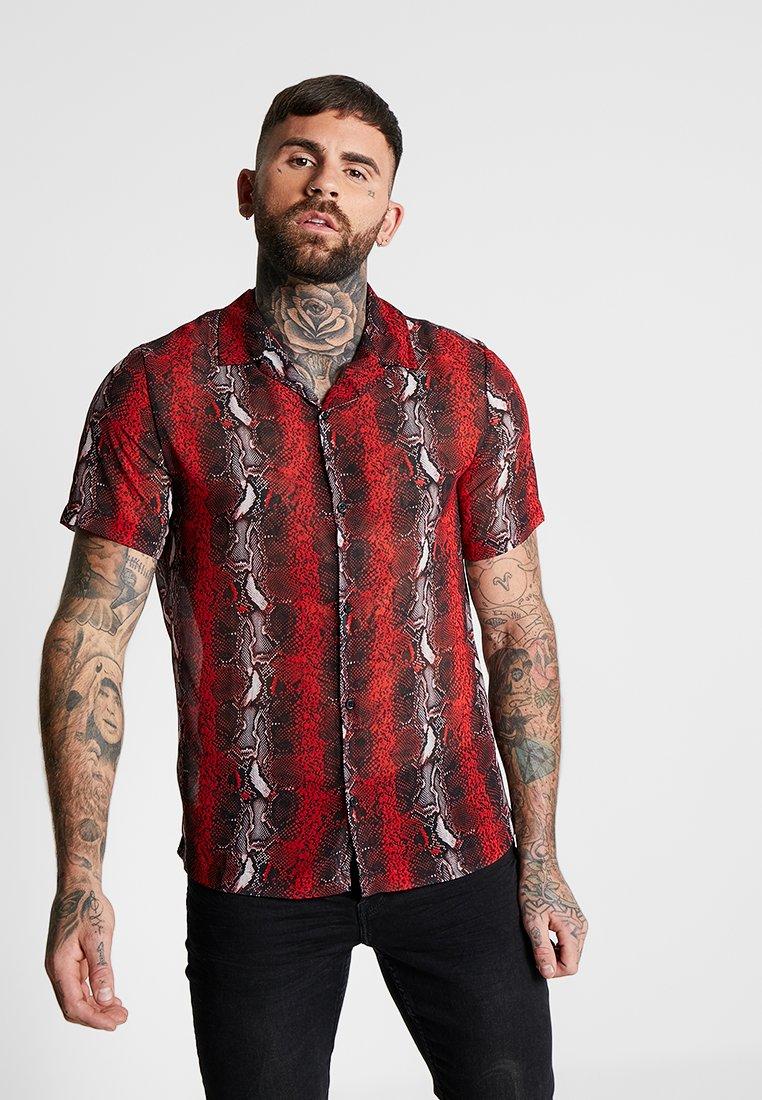 Jaded London - SNAKE OVERSIZED REVER - Shirt - red