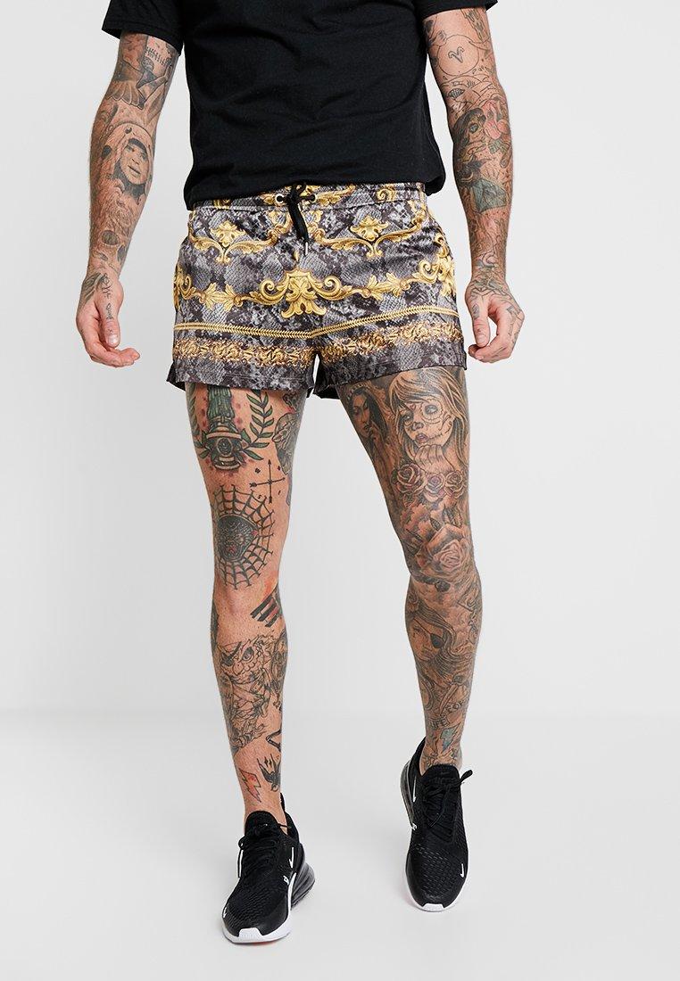 Jaded London - SNAKESKIN BAROQUE - Shorts - black