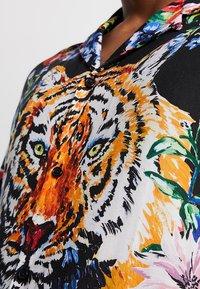 Jaded London - TIGER FLORAL REVERE  - Camisa - black - 5
