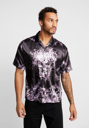 PURPLE FLAME SKULL SHIRT - Košile - black/purple