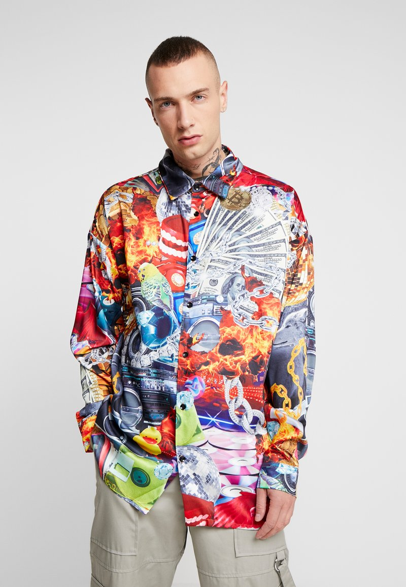 Jaded London - COLLAGE STRIP SHIRT - Košile - multi