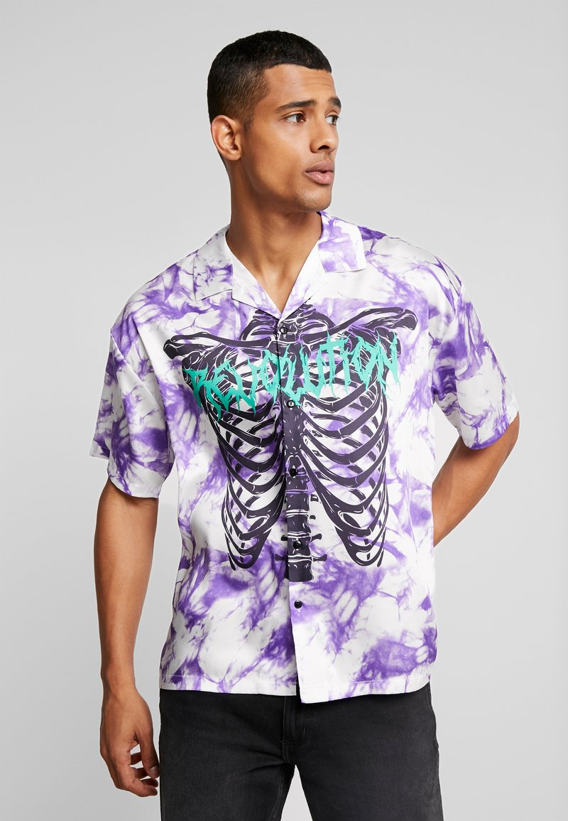 Jaded London - SKELETON REVERE SHIRT - Shirt - purple